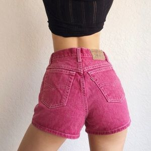 Vintage Cran Pink Lévis 900 Series Shorts